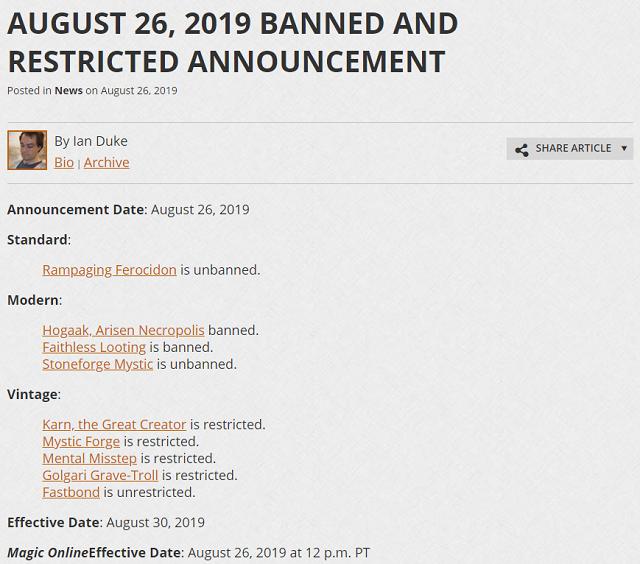 B & R list on 26/08/2019