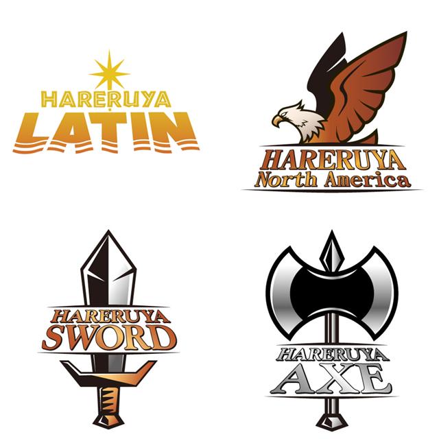 4チームのロゴ