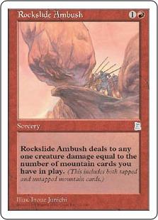 《落石の待ち伏せ/Rockslide Ambush》[PTK] 赤U