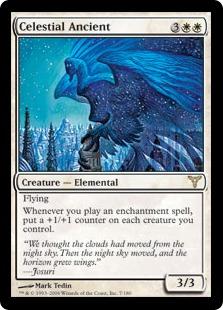 【Foil】《天界の古霊/Celestial Ancient》[DIS] 白R
