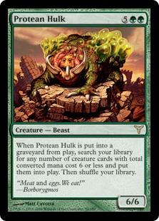 【Foil】《変幻の大男/Protean Hulk》[DIS] 緑R