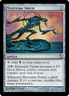 《ファイレクシアのトーテム像/Phyrexian Totem》[TSP] 茶U