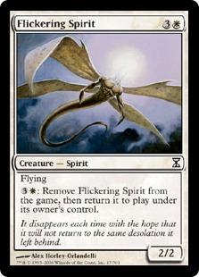 【Foil】《ちらつくスピリット/Flickering Spirit》[TSP] 白C