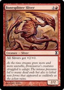 《断骨スリヴァー/Bonesplitter Sliver》[TSP] 赤C