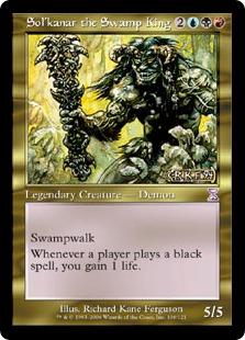 【Foil】《沼地の王ソルカナー/Sol'kanar the Swamp King》[TSB] 金