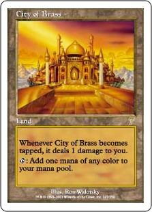 【Foil】《真鍮の都/City of Brass》[7ED] 土地R