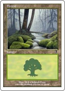 【Foil】《森/Forest》(328)[7ED] 土地