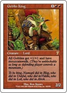 【Foil】《ゴブリンの王/Goblin King》[7ED] 赤R