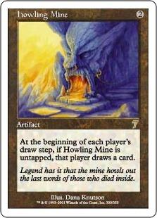 《吠えたける鉱山/Howling Mine》[7ED] 茶R