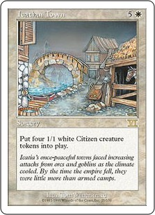 《アイケイシアの都市/Icatian Town》[6ED] 白R