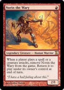 《二の足踏みのノリン/Norin the Wary》[TSP] 赤R