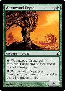 《ワームウッドのドライアド/Wormwood Dryad》[TSP] 緑C