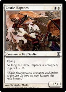 【Foil】《城の猛禽/Castle Raptors》[TSP] 白C