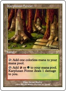 《カープルーザンの森/Karplusan Forest》[7ED] 土地R