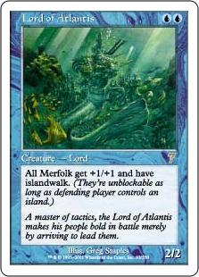 《アトランティスの王/Lord of Atlantis》[7ED] 青R