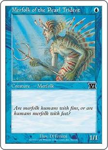 《真珠三叉矛の人魚/Merfolk of the Pearl Trident》[6ED] 青C