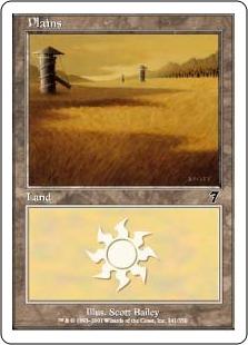 【Foil】《平地/Plains》(341)[7ED] 土地