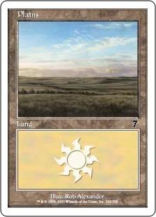 【Foil】《平地/Plains》(342)[7ED] 土地