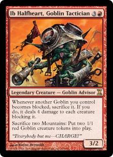 《ゴブリンの戦術家、半心臓のイッブ/Ib Halfheart, Goblin Tactician》[TSP] 赤R