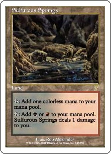 《硫黄泉/Sulfurous Springs》[7ED] 土地R