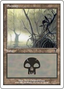 【Foil】《沼/Swamp》(346)[7ED] 土地