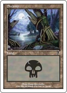 【Foil】《沼/Swamp》(349)[7ED] 土地