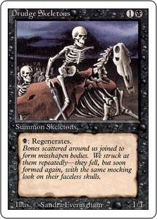 《蠢く骸骨/Drudge Skeletons》[3ED] 黒C
