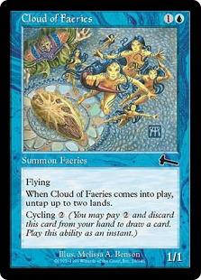 《フェアリーの大群/Cloud of Faeries》[ULG] 青C