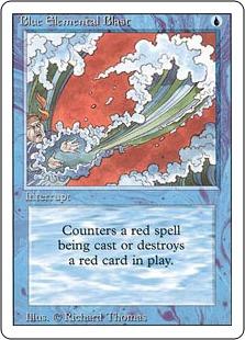 《青霊破/Blue Elemental Blast》[3ED] 青C