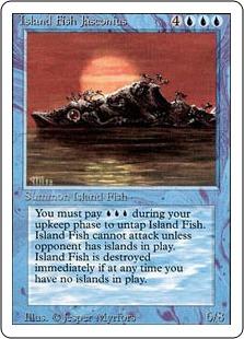 《島魚ジャスコニアス/Island Fish Jasconius》[3ED] 青R