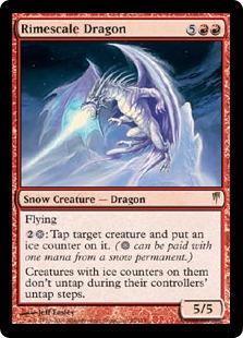 【Foil】《霧氷鱗のドラゴン/Rimescale Dragon》[CSP] 赤R