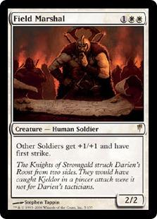 【Foil】《陸軍元帥/Field Marshal》[CSP] 白R