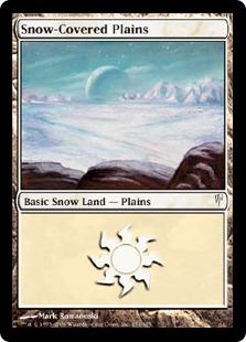 《冠雪の平地/Snow-Covered Plains》[CSP] 土地C