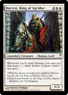 【Foil】《キイェルドーの王、ダリアン/Darien, King of Kjeldor》[CSP] 白R