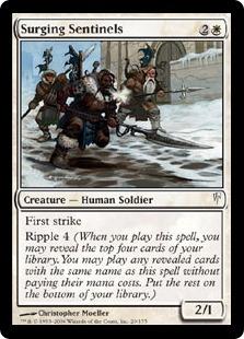 【Foil】《うねる歩哨/Surging Sentinels》[CSP] 白C