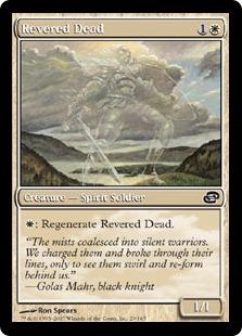 【Foil】《有徳の死者/Revered Dead》[PLC] 白C