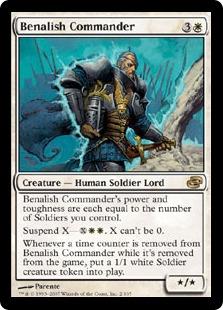 《ベナリアの司令官/Benalish Commander》[PLC] 白R