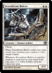 【Foil】《嵐前線の乗り手/Stormfront Riders》[PLC] 白U