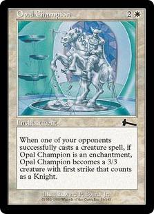 【Foil】《オパールのチャンピオン/Opal Champion》[ULG] 白C