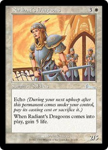 【Foil】《レイディアントの竜騎兵/Radiant's Dragoons》[ULG] 白U