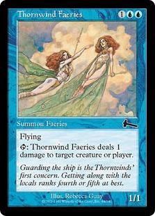 《ソーンウィンド・フェアリー/Thornwind Faeries》[ULG] 青C