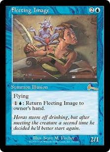 【Foil】《束の間の映像/Fleeting Image》[ULG] 青R