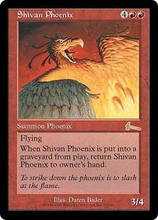 《シヴのフェニックス/Shivan Phoenix》[ULG] 赤R