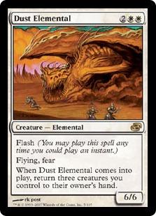 【Foil】《塵の精霊/Dust Elemental》[PLC] 白R