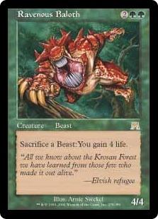 《貪欲なるベイロス/Ravenous Baloth》[ONS] 緑R