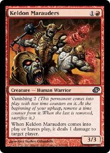 《ケルドの匪賊/Keldon Marauders》[PLC] 赤C