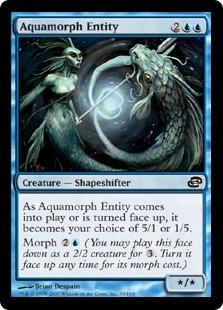 《水変化の精体/Aquamorph Entity》[PLC] 青C