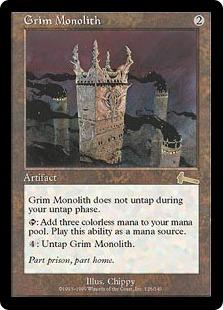 《厳かなモノリス/Grim Monolith》[ULG] 茶R
