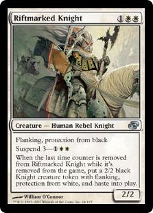 《裂け目抜けの騎士/Riftmarked Knight》[PLC] 白U