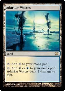 《アダーカー荒原/Adarkar Wastes》[10ED] 土地R